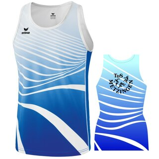 Singlet new royal/weiß