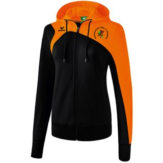 Erima Club 1900 2.0 Trainingsjacke mit Kapuze schwarz/orange