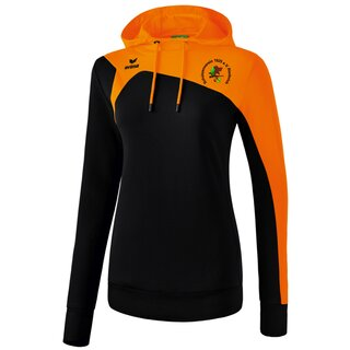 Erima Club 1900 2.0 Kapuzensweat schwarz/orange