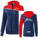 5-C Trainingsjacke mit Kapuze new navy/rot/weiß